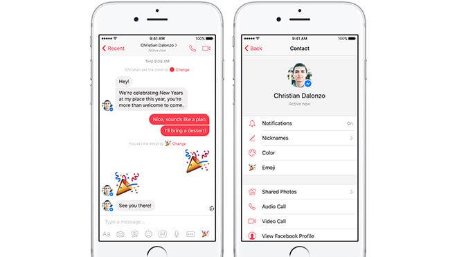 Facebook Messenger'a Yeni Yıl Güncellemesi Geldi!