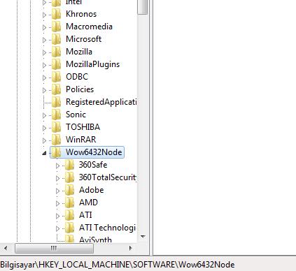 Windows 7 ve Registry Ayarları