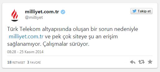 Milliyet ve Sahibinden.com Açılmıyor