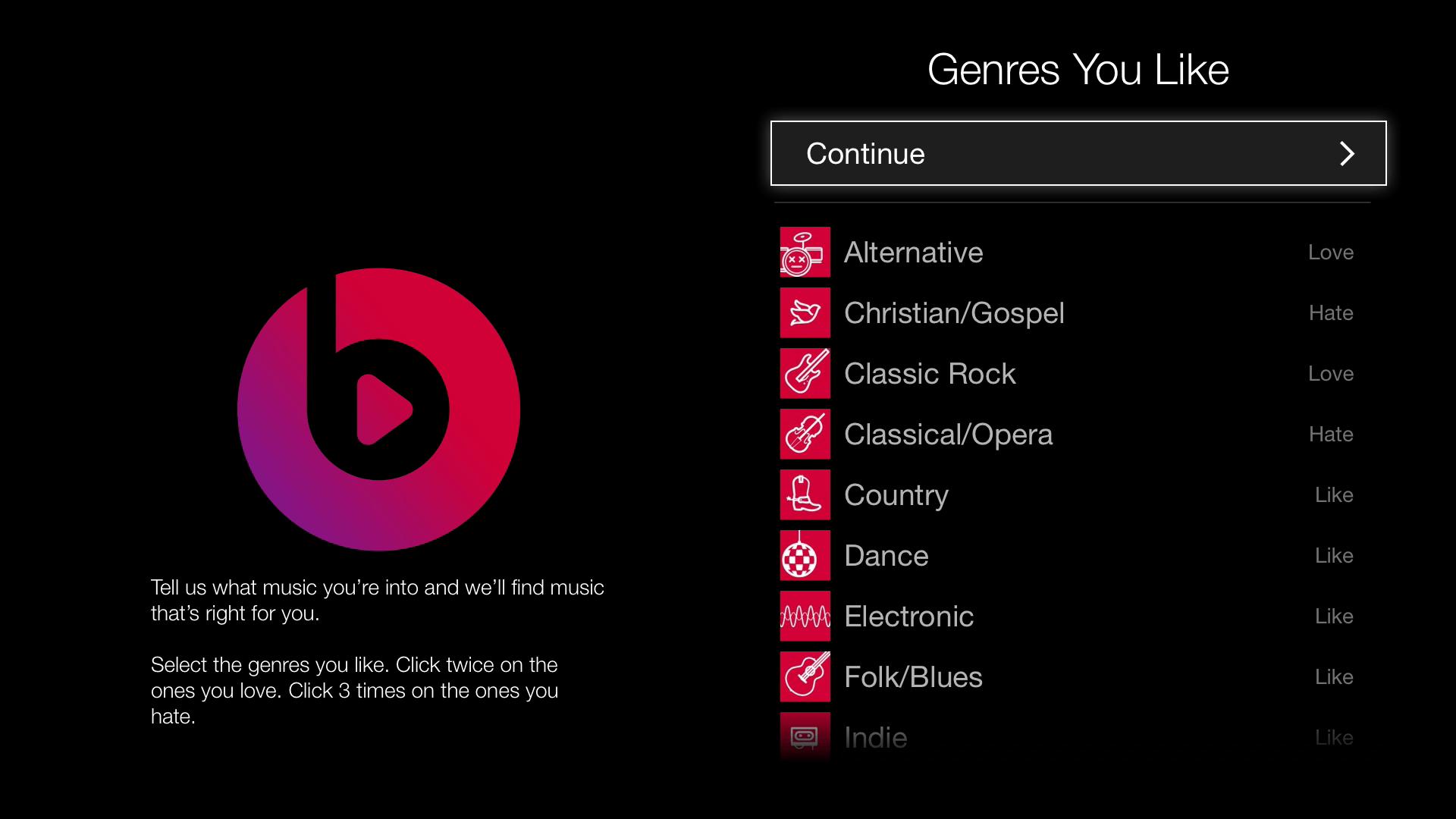 Apple-TV-Beats-genres