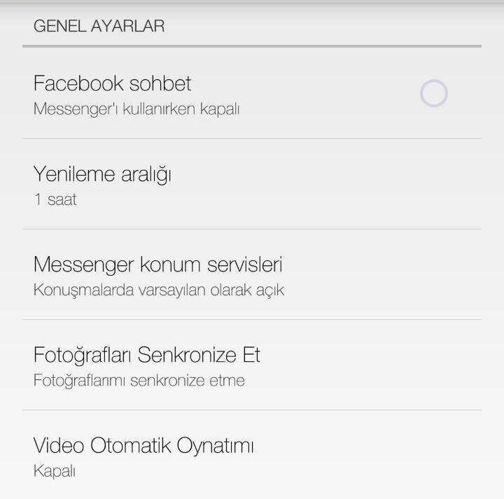 Facebook Videoları Otomatik Oynatmasın