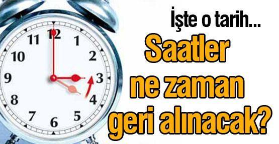 Saatler Ne Zaman Geri Alınacak 2014