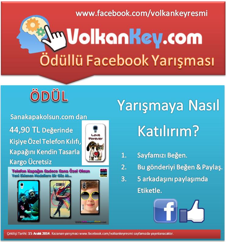 Volkankey.com Facebook Yarışması Başlıyor